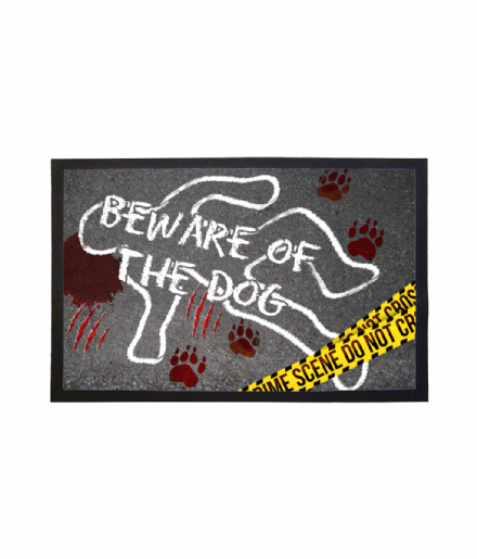 Beware of the Dog Joke Welcome Mat